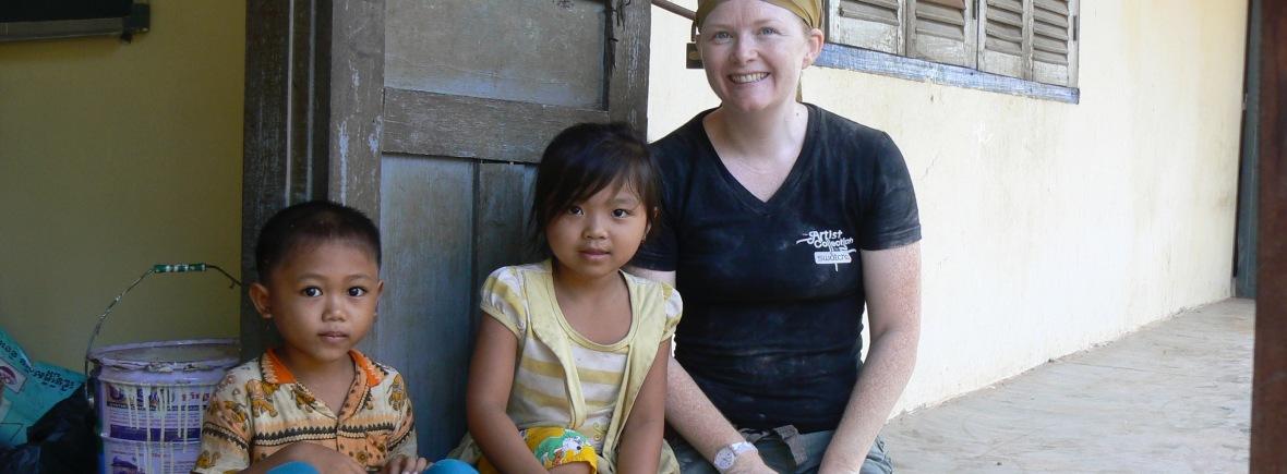 Sarah McCay Tams in Cambodia