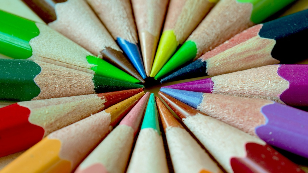 Colour pencils for writing